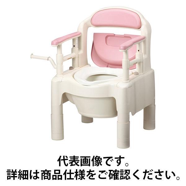 """アロン化成 安寿 ポータブルトイレ FX-CP """"ちびくまくん"""" さくら 533-335 (直送品)"""