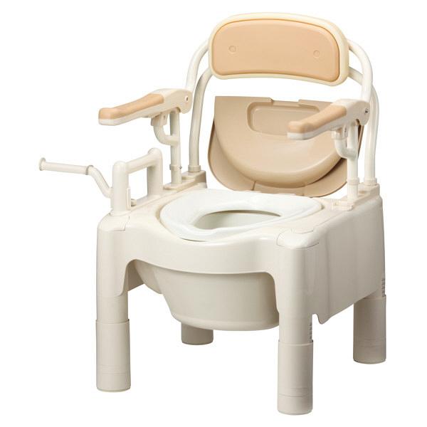 アロン化成 安寿 ポータブルトイレ FX-CP はね上げ ソフト・快適脱臭 534-530 (直送品)