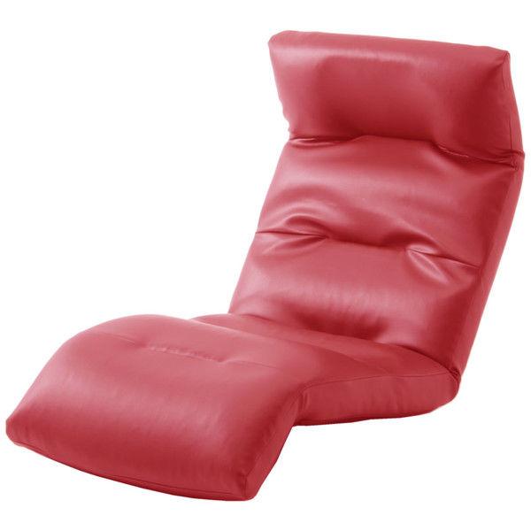 セルタン 座椅子 和楽の雲 下タイプ 幅540×奥行930~1380×高さ120~700mm PVCレッド (直送品)