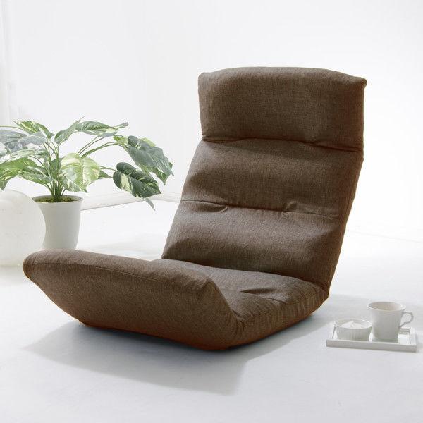 セルタン 座椅子 和楽の雲 上タイプ 幅540×奥行730~1380×高さ120~700mm ダリアンブラウン (直送品)