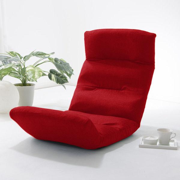 セルタン 座椅子 和楽の雲 上タイプ 幅540×奥行730~1380×高さ120~700mm ダリアンレッド (直送品)