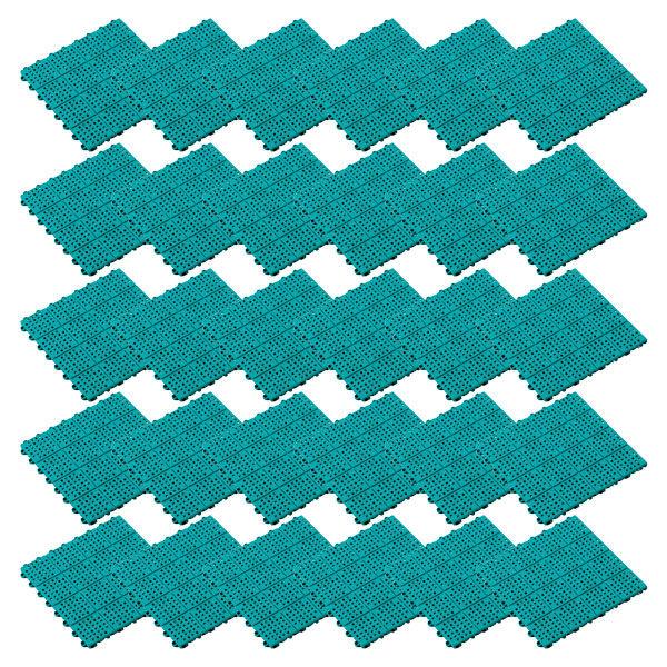 テラモト タッチマットII 300×300mm グリーン (1箱30枚入) (直送品)