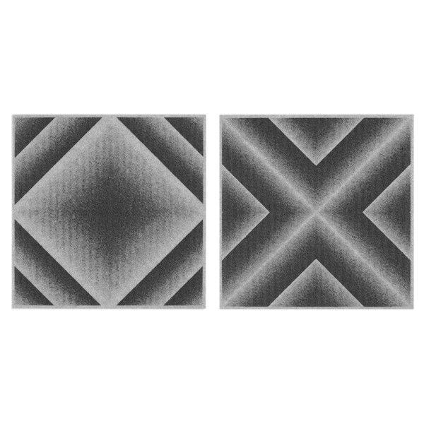 サンコー バリアフリータイルマット グラデーション18枚組 グレー 1セット(2柄で18枚入) (直送品)