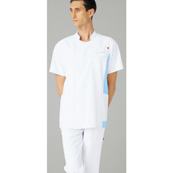 ルコックスポルティフ メンズジャケット ホワイトXアクア M UQM1006 1枚  (直送品)
