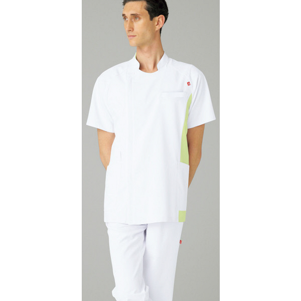 ルコックスポルティフ メンズジャケット ホワイトXライム M UQM1006 1枚  (直送品)