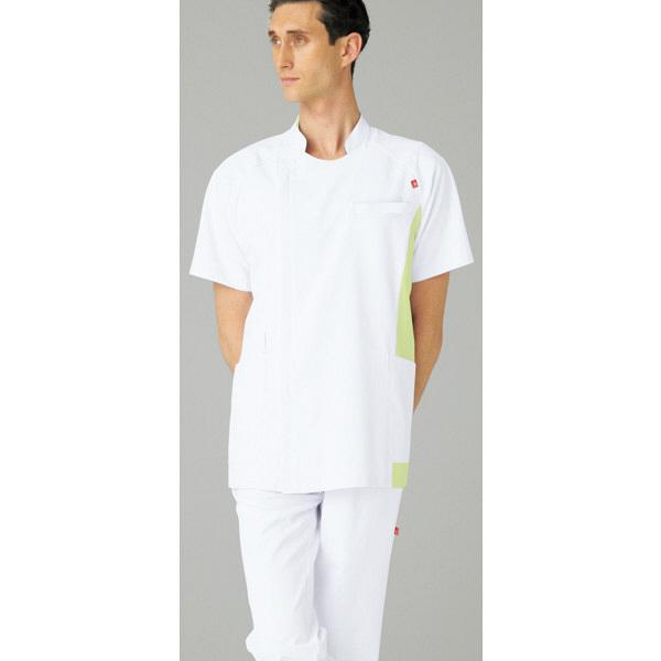 ルコックスポルティフ メンズジャケット ホワイトXライム L UQM1006 1枚  (直送品)