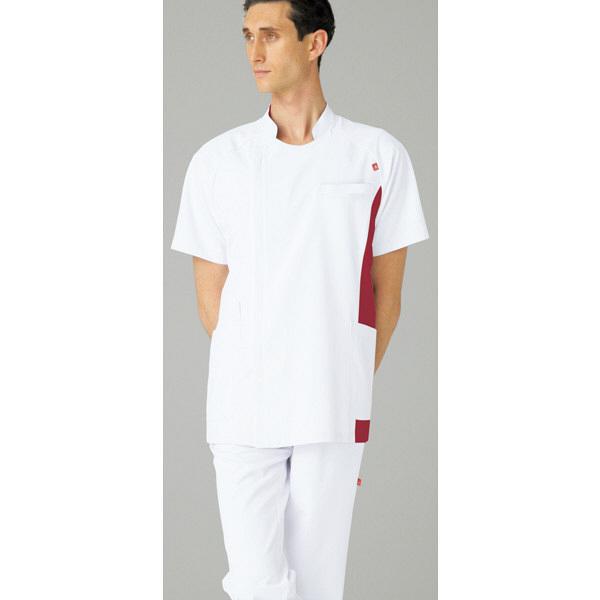 ルコックスポルティフ メンズジャケット ホワイトXワイン 4L UQM1006 1枚  (直送品)