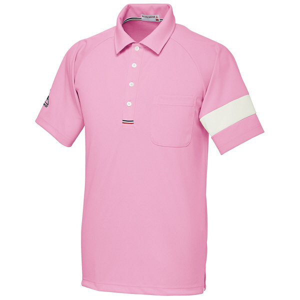 ルコックスポルティフ ユニセックスニットシャツ ピンク LL UZL3041 1枚  (直送品)
