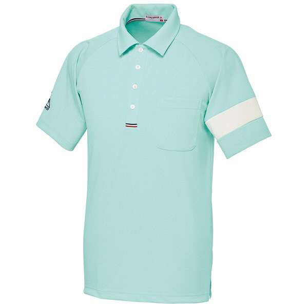 ルコックスポルティフ ユニセックスニットシャツ エメラルドグリーン M UZL3041 1枚  (直送品)