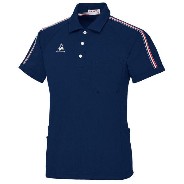 ルコックスポルティフ ユニセックスニットシャツ ネイビー L UZL3043 1枚  (直送品)