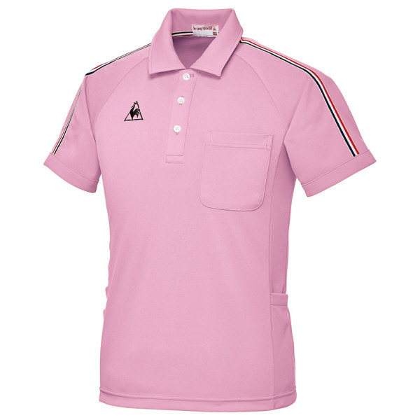 ルコックスポルティフ ユニセックスニットシャツ ピンク LL UZL3043 1枚  (直送品)