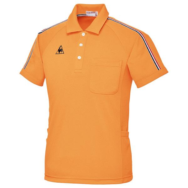 ルコックスポルティフ ユニセックスニットシャツ オレンジ LL UZL3043 1枚  (直送品)
