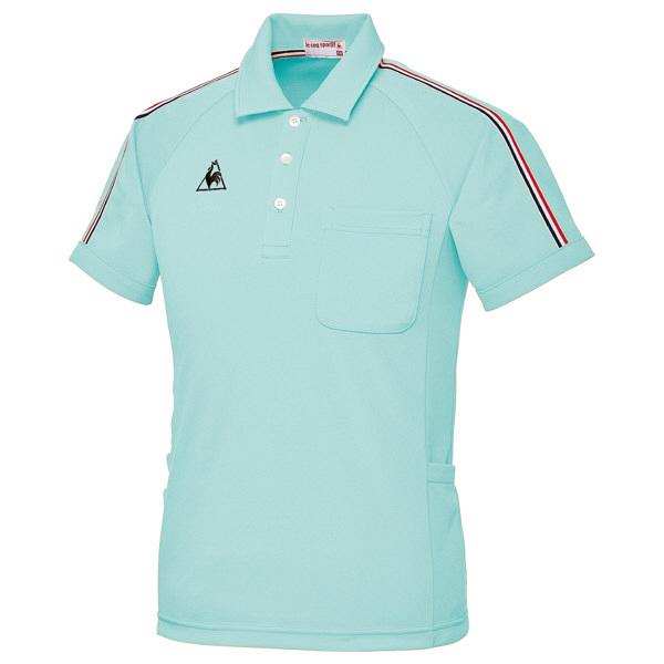 ルコックスポルティフ ユニセックスニットシャツ エメラルドグリーン L UZL3043 1枚  (直送品)