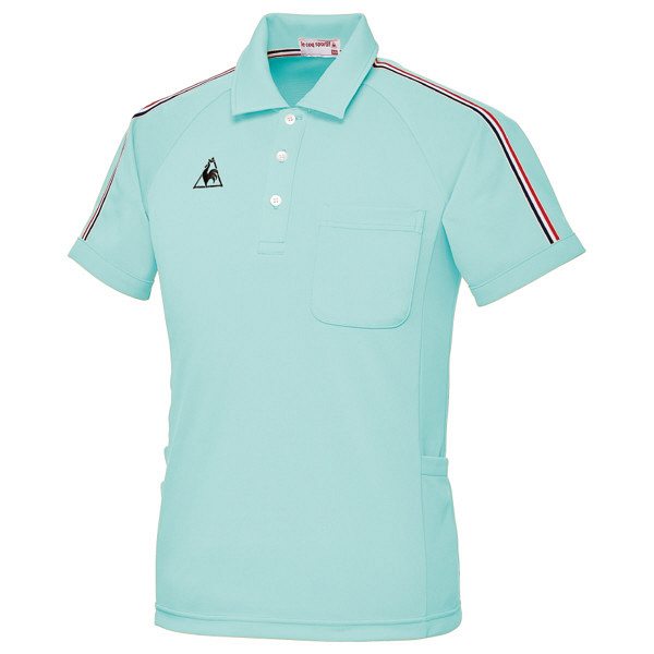 ルコックスポルティフ ユニセックスニットシャツ エメラルドグリーン EL UZL3043 1枚  (直送品)