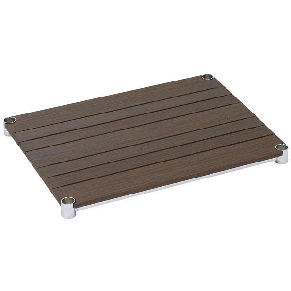 ルミナス ポール径25mm 追加パーツ 棚板(ウッドシェルフ ブラウン) 幅610×奥行460mm WS6045-BR