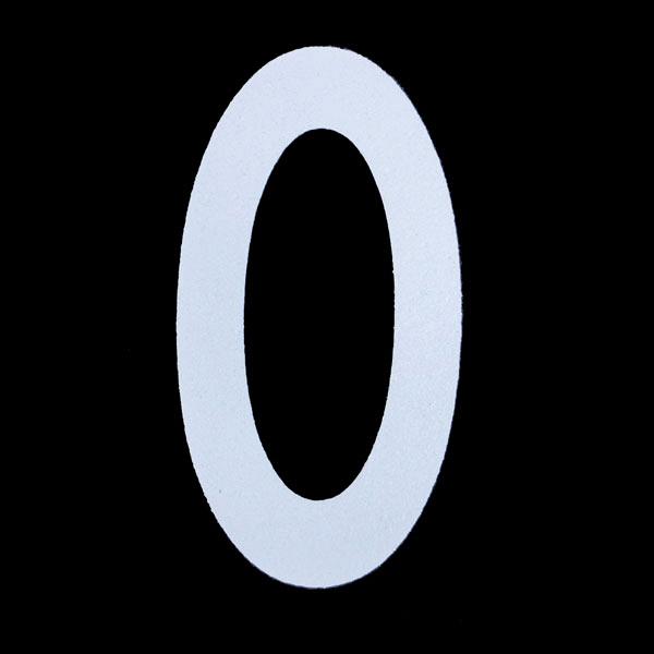 新富士バーナー ロードマーキング用ナンバー S 「0」 RM-100 (直送品)