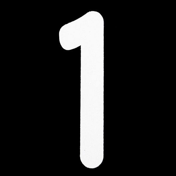 新富士バーナー ロードマーキング用ナンバー S 「1」 RM-101 (直送品)