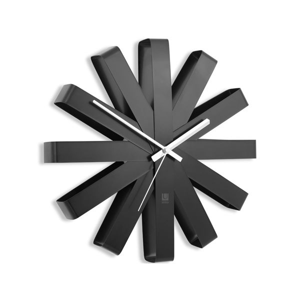 UMBRA リボン ウォールクロック ブラック (直送品)