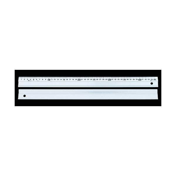 シンワ測定 アルミ直尺 アル助 スベリ止なし 45cm 65528 1箱(20本入) (直送品)