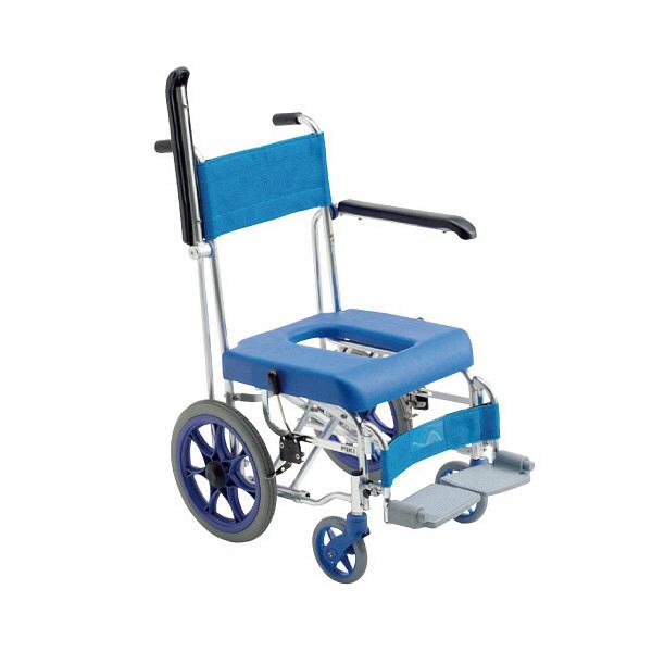 ミキ 入浴用車椅子フローラ(介助用) 本体 肘掛け跳ね上げ式 MHC-46 1台 (直送品)