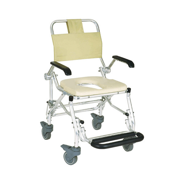 睦三 シャワーキャリーLXII 本体 肘掛け跳ね上げ式 No.5022 1台 入浴用車椅子 (直送品)