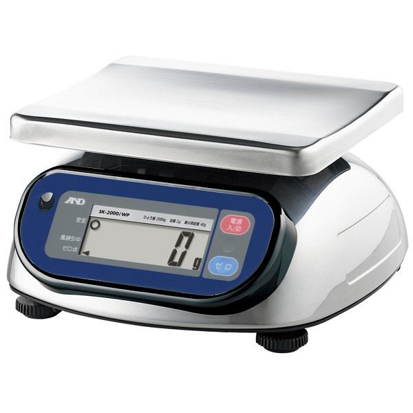 エー・アンド・デイ(A&D) 取引証明用(検定付) 防塵・防水 デジタルはかり 地区4 2kg SK2000iWP-A4 (直送品)