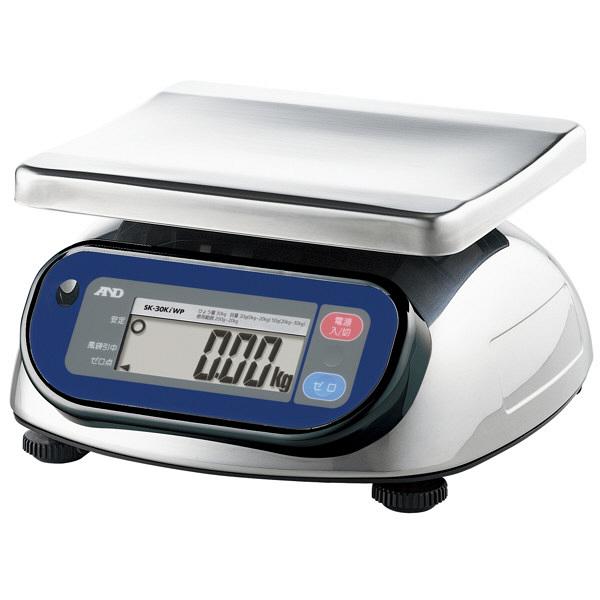エー・アンド・デイ(A&D) 取引証明用(検定付) 防塵・防水 デジタルはかり 30kg SK-30KiWP 1台 (直送品)