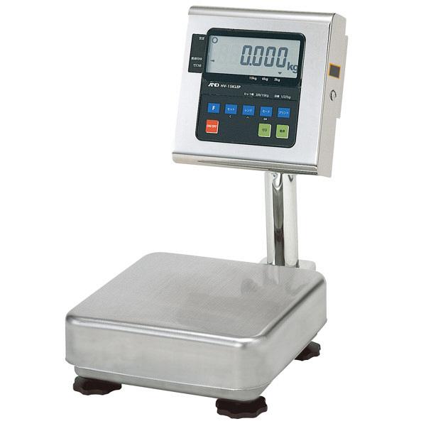 エー・アンド・デイ 取引証明用(検定付) 本質安全防爆構造 デジタル台はかり 地区2 秤量(3kg/6kg/15kg) HV-15KiEP-K (直送品)
