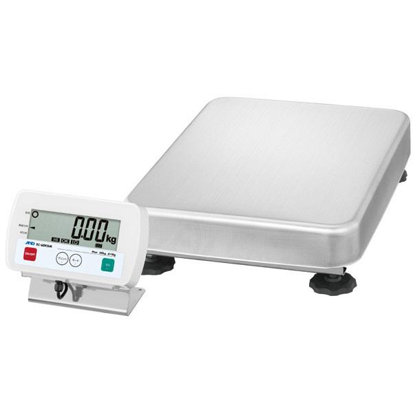 エー・アンド・デイ(A&D) 取引証明用(検定付) 防塵・防水 デジタル台はかり 地区5 150kg SC-150KBL-K 1台 (直送品)
