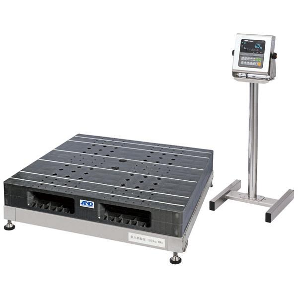 エー・アンド・デイ(A&D) 取引証明用(検定付) 防塵・防水 パレット一体型 デジタル台はかり 地区3 1200kg SN-1200KWP-K (直送品)