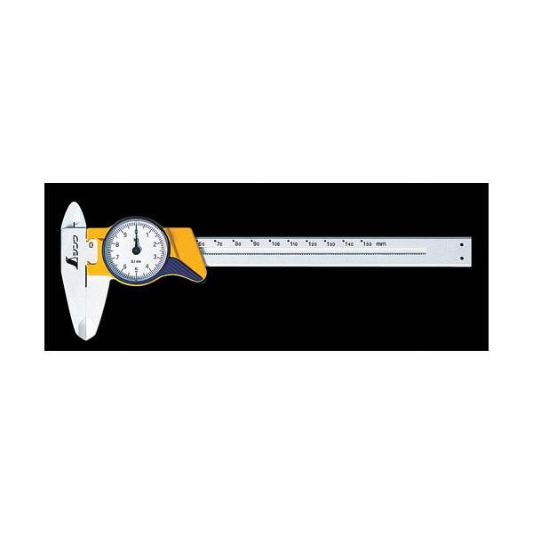 シンワ測定 ファイバーノギス 150mm ダイヤル式 19932 1セット(5本) (直送品)