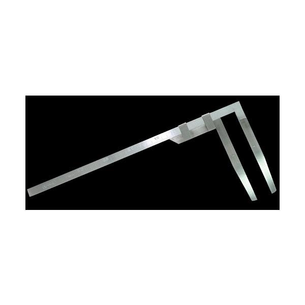 シンワ測定 材木尺 ステン 42cm 表2mm・裏1mm目盛 63509 (直送品)
