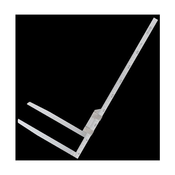 シンワ測定 材木尺 ステン 48cm 表2mm・裏1mm目盛 63517 (直送品)