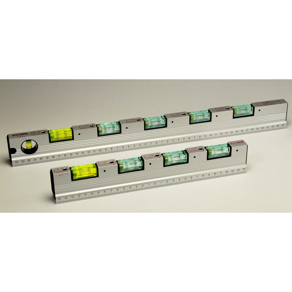 水平器 スターレベル排水勾配器 500mm LH-500 1セット(2本) (直送品)