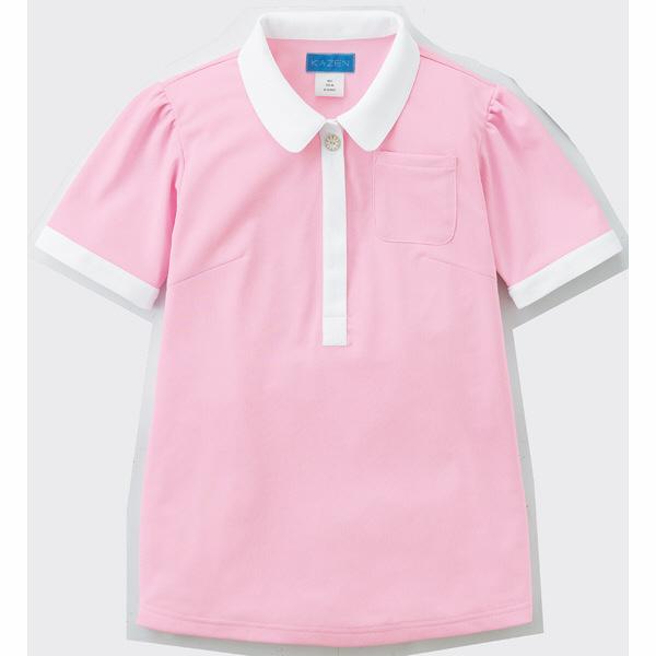 【メーカーカタログ】 KAZEN レディスポロシャツ ピンク LL 239-93-LL 1枚  (直送品)