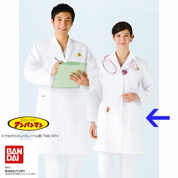 KAZEN レディス診察衣(ハーフ丈) 長袖 オフホワイト シングル L ANP261-70 (直送品)