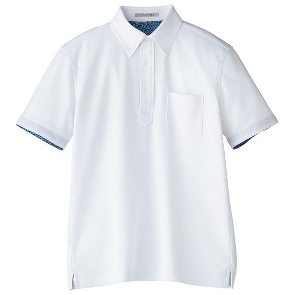 【メーカーカタログ】ボンマックス メンズ吸水速乾ポロシャツ(花柄A) ホワイト 5L FB5024M 1枚 (直送品)