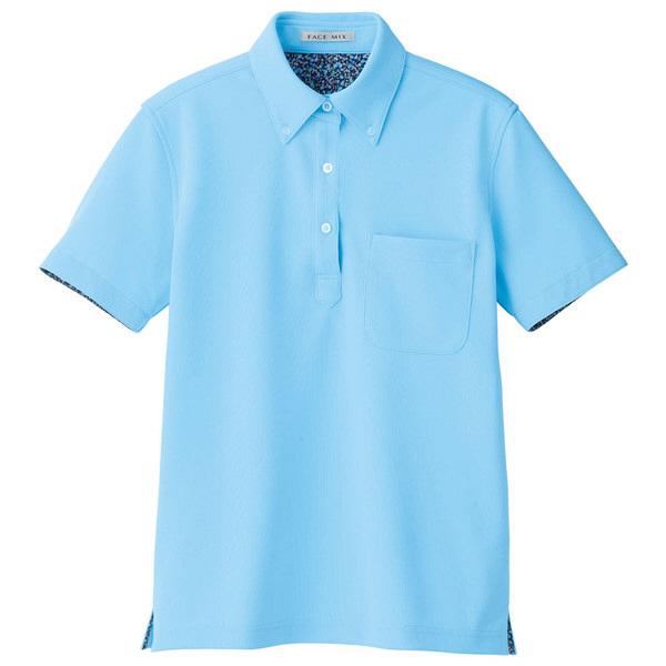 【メーカーカタログ】ボンマックス レディス吸水速乾ポロシャツ(花柄A) ブルー LL FB4018L 1枚 (直送品)
