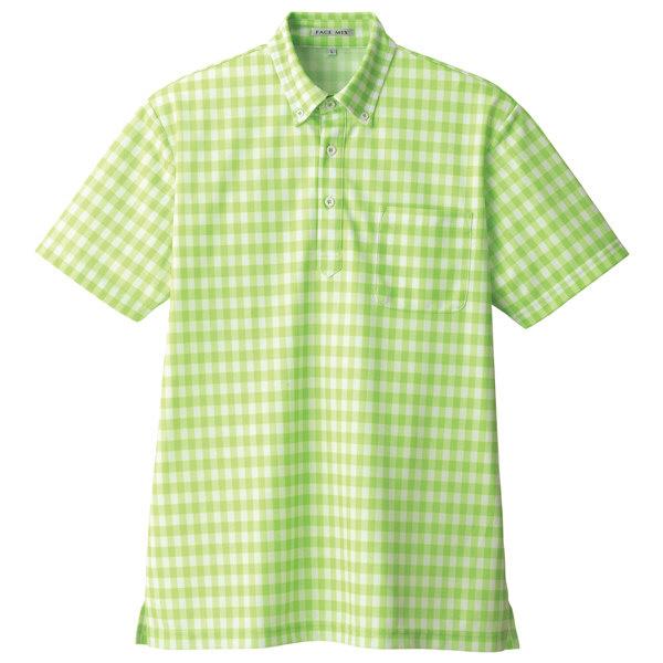 【メーカーカタログ】ボンマックス チェックプリントポロシャツ(半袖) グリーン 3L FB4523U 1枚 (直送品)