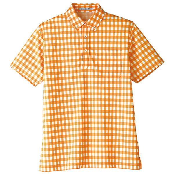 【メーカーカタログ】ボンマックス チェックプリントポロシャツ(半袖) オレンジ SS FB4523U 1枚 (直送品)