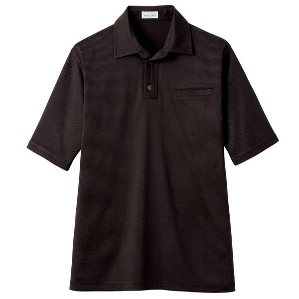 【メーカーカタログ】ボンマックス 和ニットポロシャツ ブラウン L FB4532U 1枚 (直送品)
