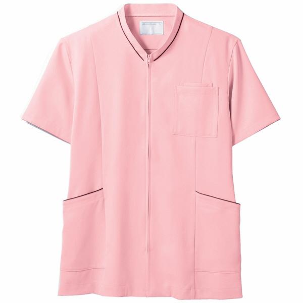 住商モンブラン ジャケット(男女兼用) 半袖 ピンク/ワイン L 72-1222 (直送品)