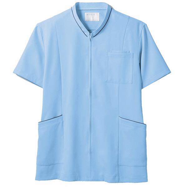 住商モンブラン ジャケット(男女兼用) 半袖 ブルー/ネイビー S 72-1224 (直送品)