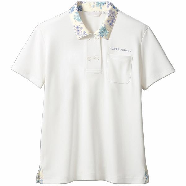 住商モンブラン レディスニットシャツ オフ白×アメリブルー L LW202-13 (直送品)