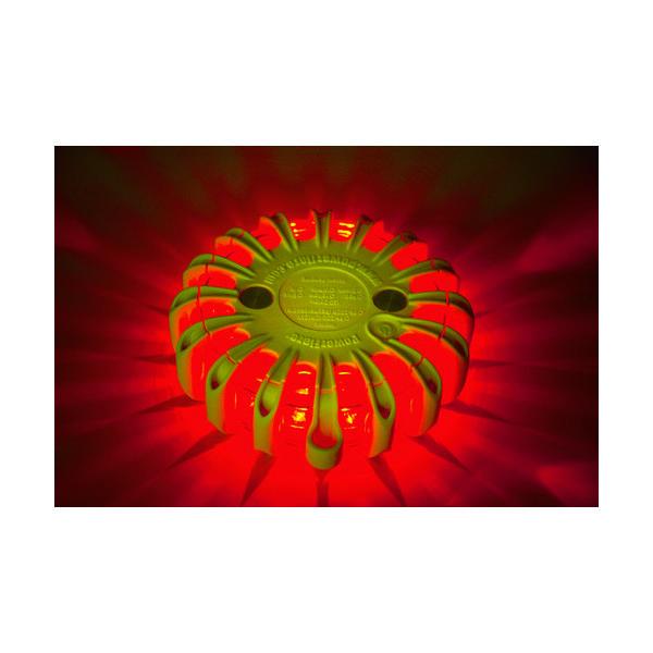 パワーフレア(PowerFlare) PF セーフティライト 赤 PF210RY 1個 760-7105(直送品)