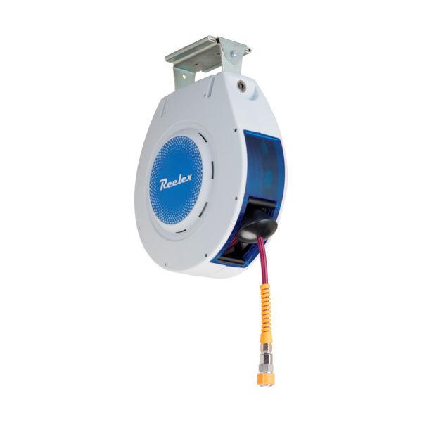 中発販売 Reelex 自動巻きエアーリール リーレックス エアーS (難燃性ホース) NAR-810WGR 1個 759-8050(直送品)