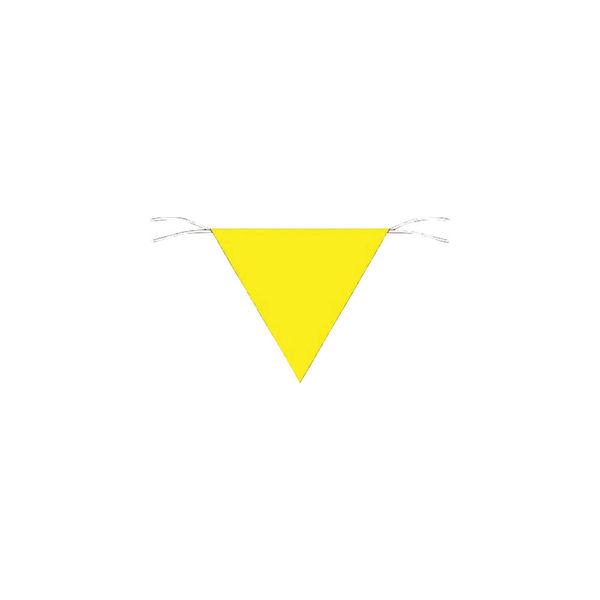 つくし工房 つくし 三角旗標識 黄無地 652-A 1枚 755-4621(直送品)