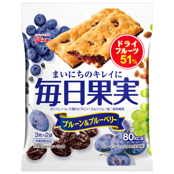 毎日果実プルーン&ブルーベリー6枚×4袋