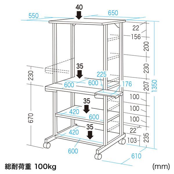 サンワサプライ パソコンラック RAC-501N 1台 (直送品)
