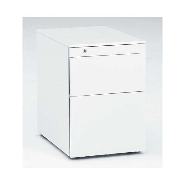 岡村製作所 スイフト スタンディングデスク 専用ワゴン 3段 ホワイト 幅390×奥行580×高さ562mm 1台 (直送品)
